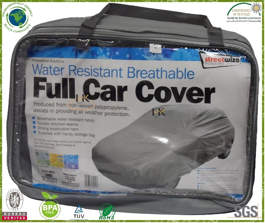 Full Car Cover by nonwoven fabric