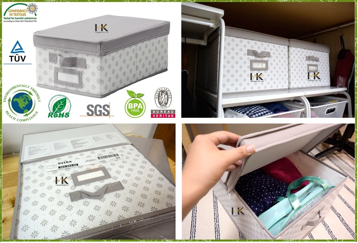 Nonwoven Fabric Soft Storage Organizer with Lid